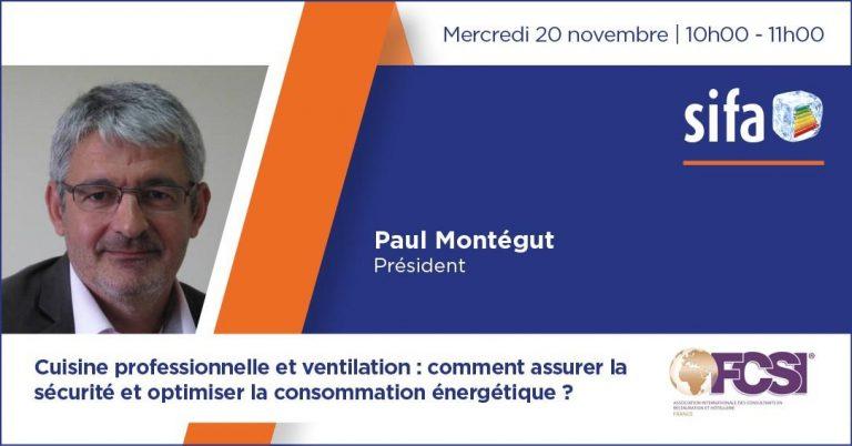 Mercredi 20 novembre 2019, conférence de Paul Montégut au SIFA